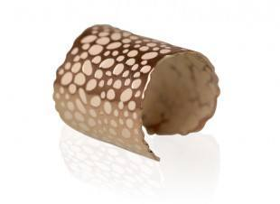 Frosted Almond Cuff Ring Image
