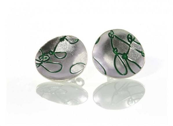 Silver-Green-Cup-Earing1