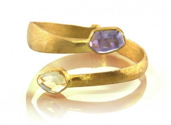 Purple-Gold-Dust-Spiral-Bracelet-1